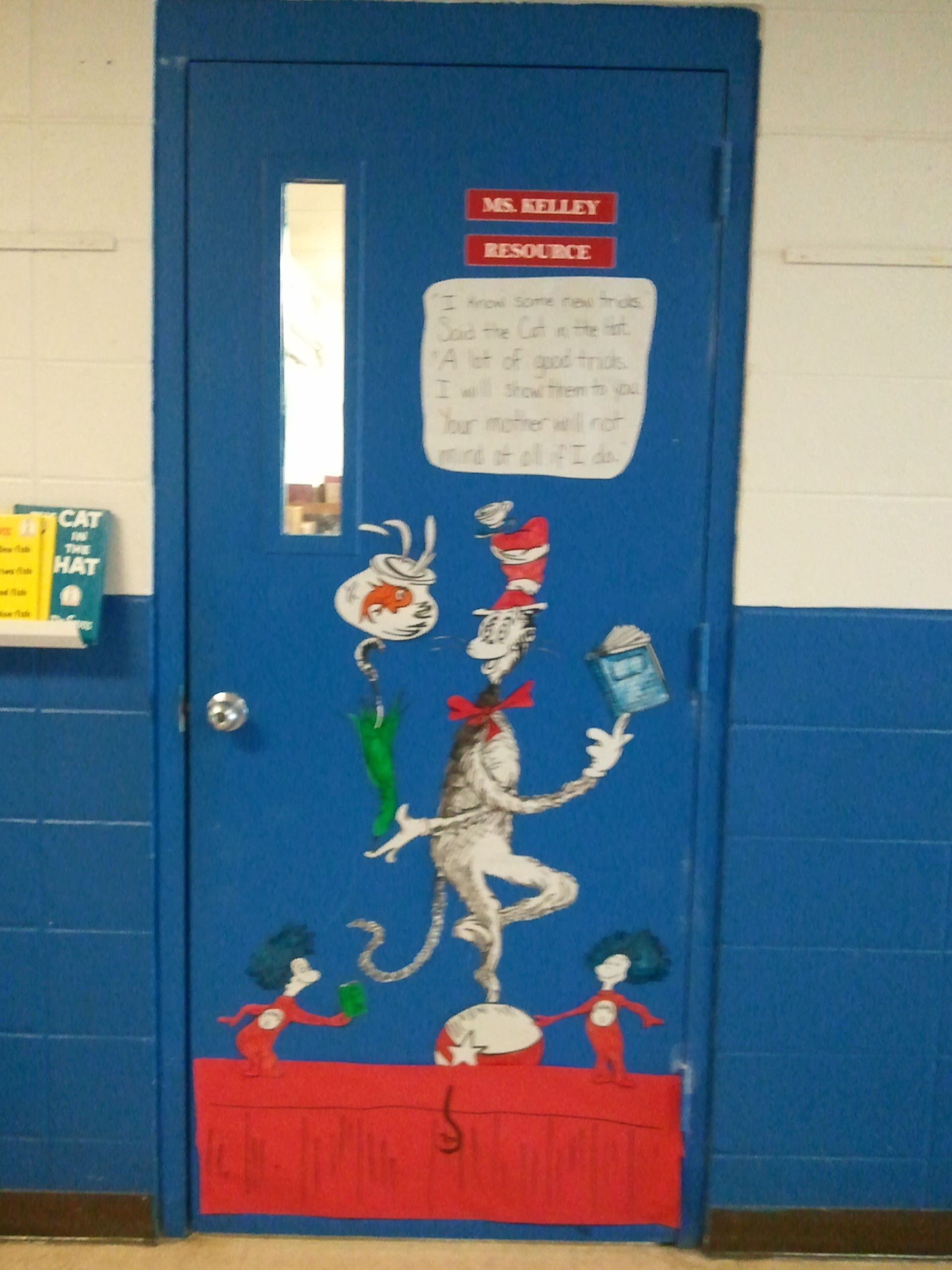 Cat In The Hat Themed Classroom Door