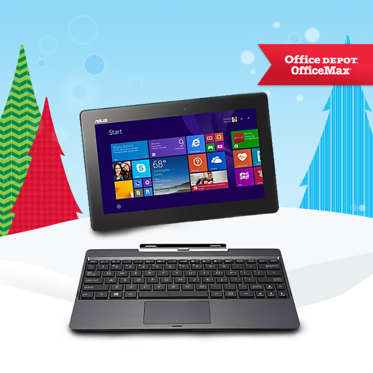 Whether You Re Skyping With Family Or Sharing With Friends Do So Easily With The Asus Transformer 2 In 1 Laptop Compu Elf Yourself Asus Transformer Office Max