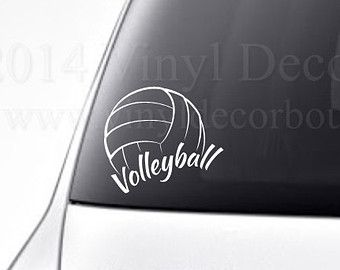 Volleyball Car Decal Vinyl Lettering Bumper Sticker High School Volleyball Vinyl Decal Car Decals Vinyl Volleyball Bumper Stickers
