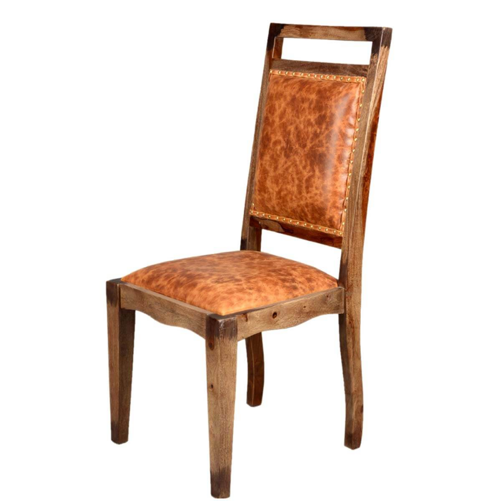 Cool Transitional Rustic Solid Wood Leather Dining Chair Beatyapartments Chair Design Images Beatyapartmentscom
