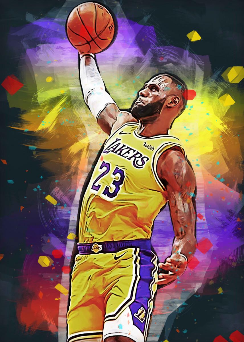 Lebron James La Lakers Poster Print By Fasata Design Displate Lebron James Art Lebron James Wallpapers Lebron James Poster