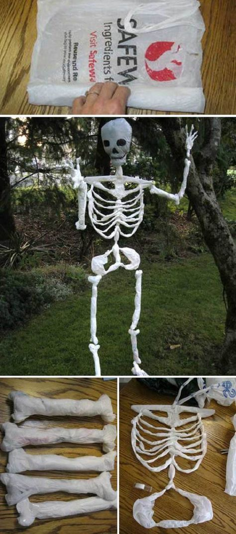 Top 20 Ideas Turn Trash Bags Into Creepy Halloween Decorations - decorations to make for halloween
