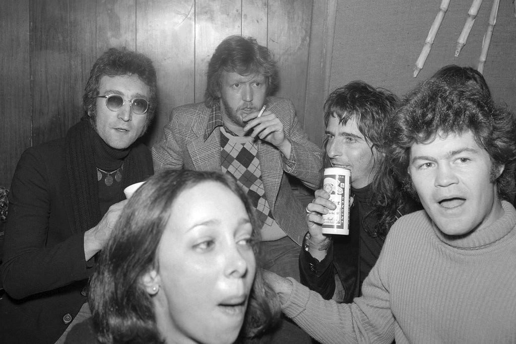 John Lennon, Harry Nilsson, Alice Cooper, Mickey Dolenz