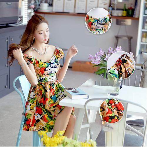 Đầm xòe hoa xinh xắn thời trang