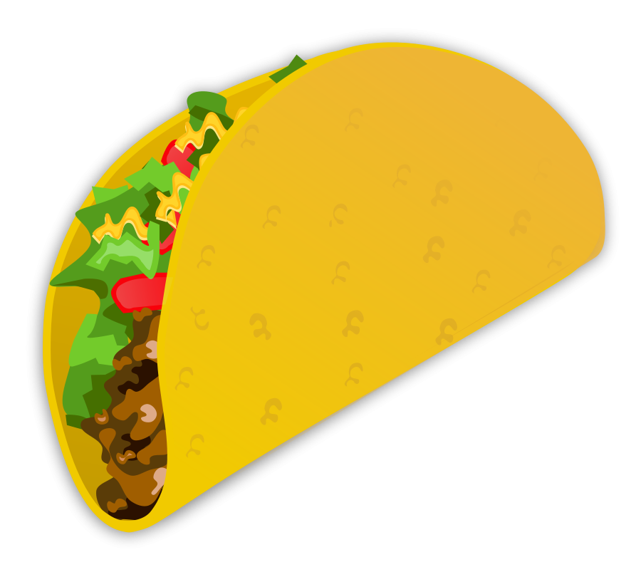 Large size Taco Clipart vector Taco clipart, Food