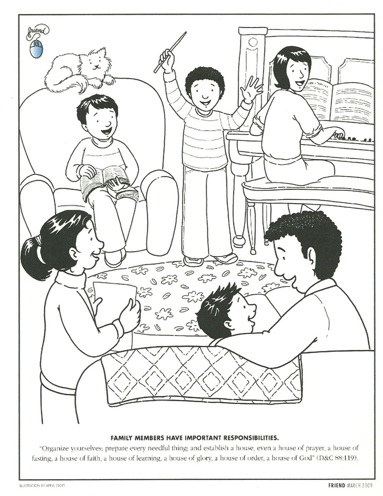 Primary 2 Manual Lesson 6 We Have Special Families Journal Page
