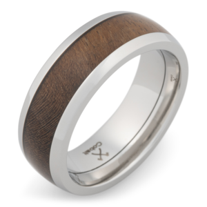 The Bison Ring Via Manly Bands Silver Wedding Bands Rings For Men Wood Wedding Band