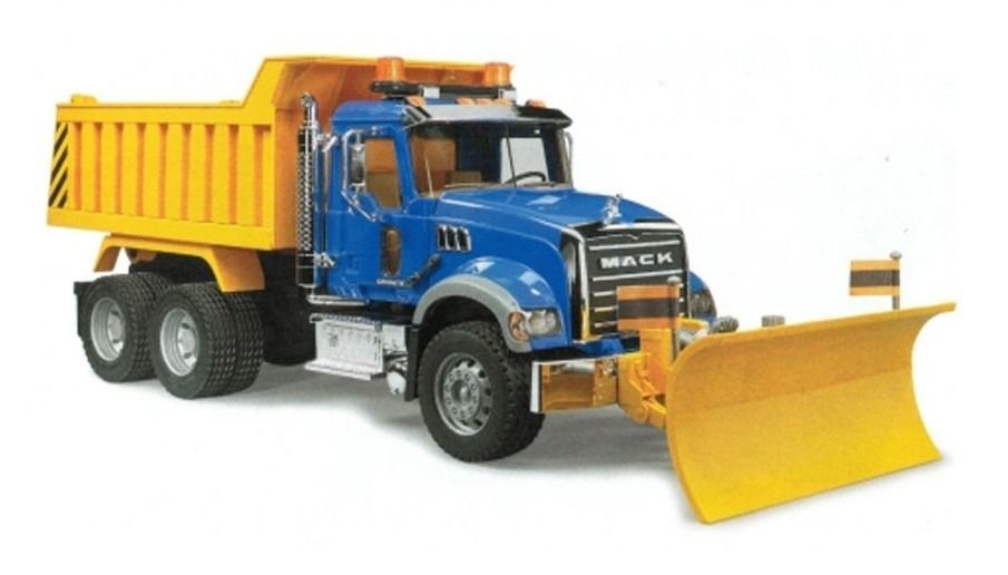 X Xm17 Bruder Mack Granite Dump Truck W Blade 2825 Dump Trucks Snow Plow Mack Dump Truck