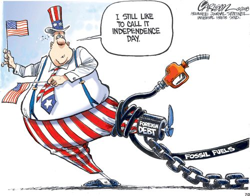 dependency on foreign oil So we're dependent on foreign oil how bad could that be.