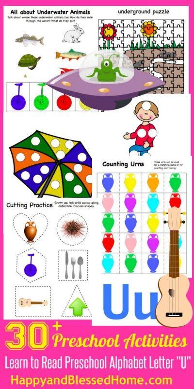 5 FREE Preschool Alphabet Letter U Activities for PreK