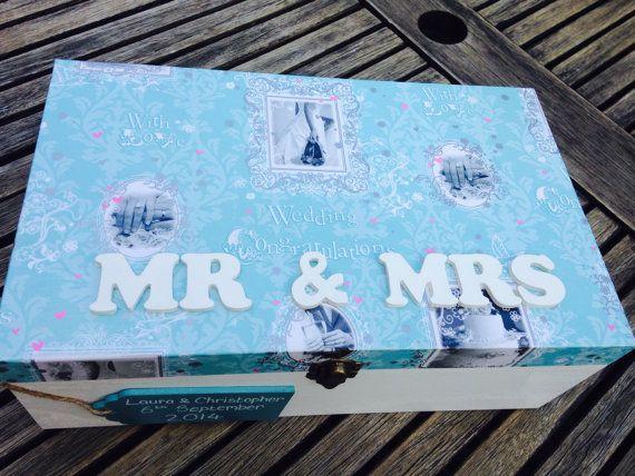 Large wedding keepsake box wedding memory by Treasuredmemsbysarah ...