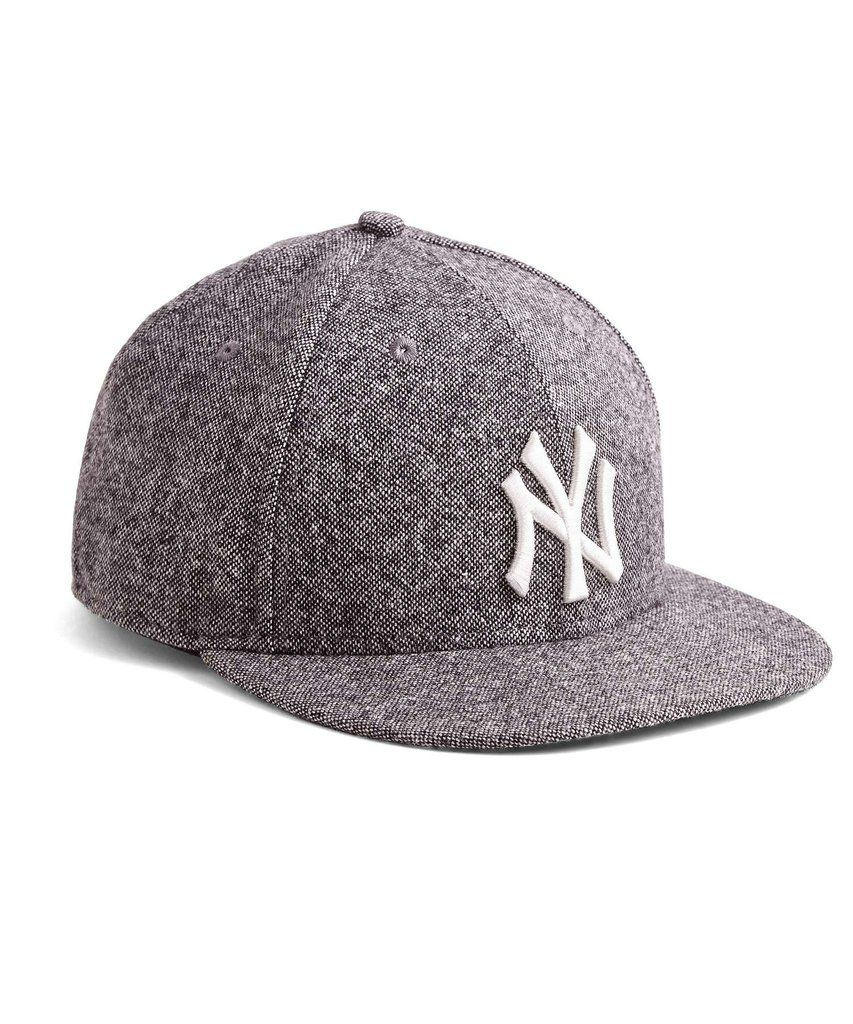 New Era Yankees Fitted Hat In Abraham Moon Black Tweed Wool Fitted Hats New Era Yankees Quilted Bomber