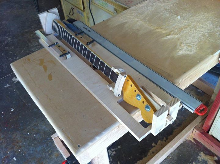 Neck Profile And Fretboard Radius With 1 Jig Telecaster Guitar
