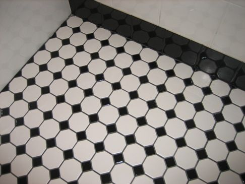 Tile For All My Bathrooms  For The Home  Pinterest  Grout Bath Cool Black And White Tile Designs For Kitchens 2018