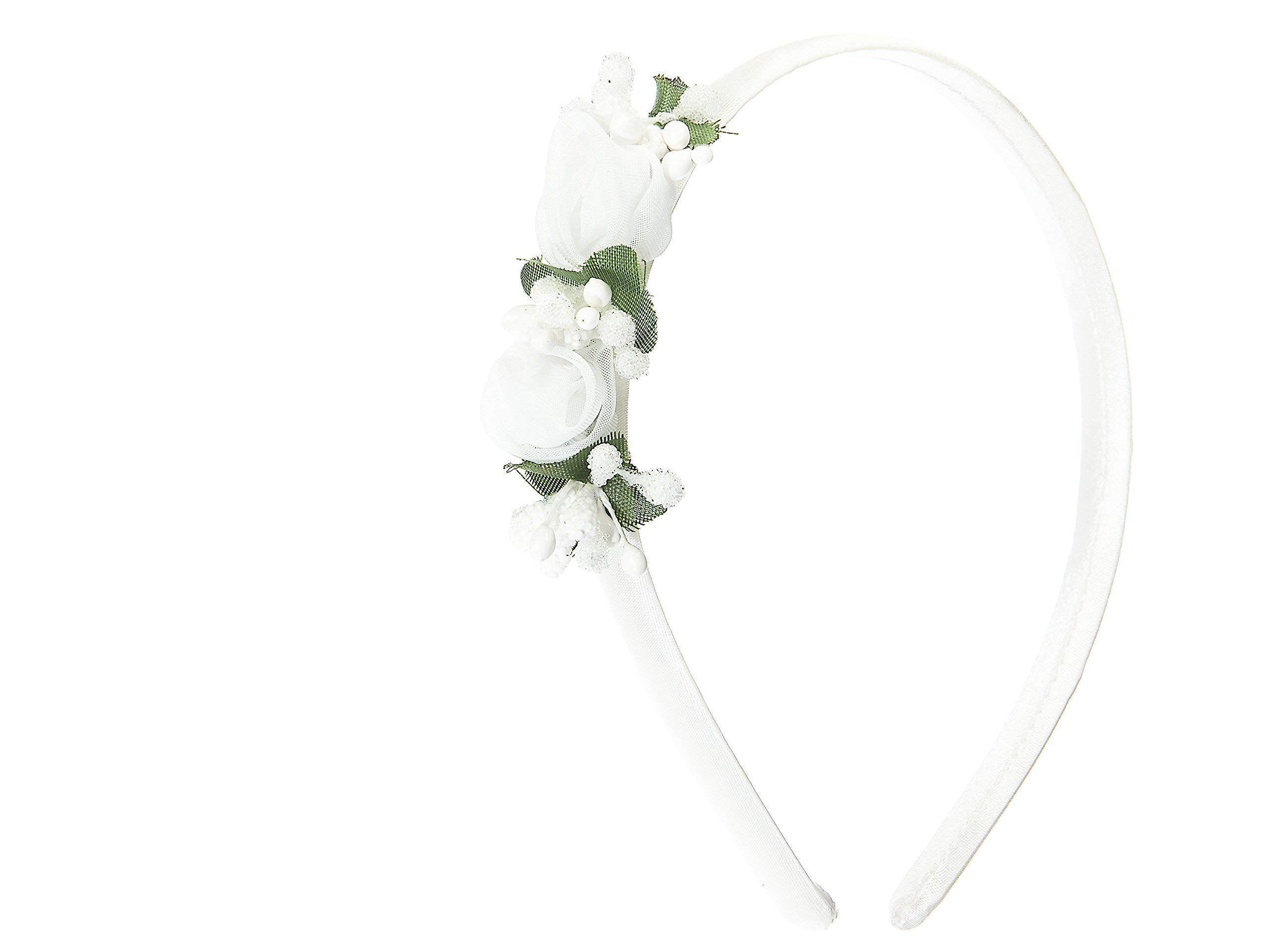enorme inventario speciale per scarpa nuovo elenco Cerchietto per cerimonia bambina bianco con fiori #bambina ...