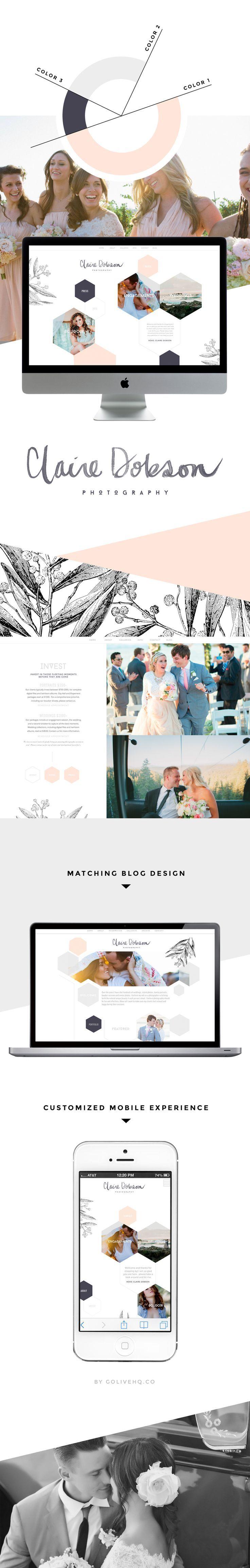 Website design not colours but structure.