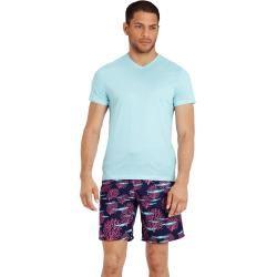 Photo of Pronti da indossare per uomo – T-Shirt in cotone mercerizzato tinta unita con scollo a V per uomo – T-sh