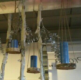 Hangers/houders van boomstamschijven