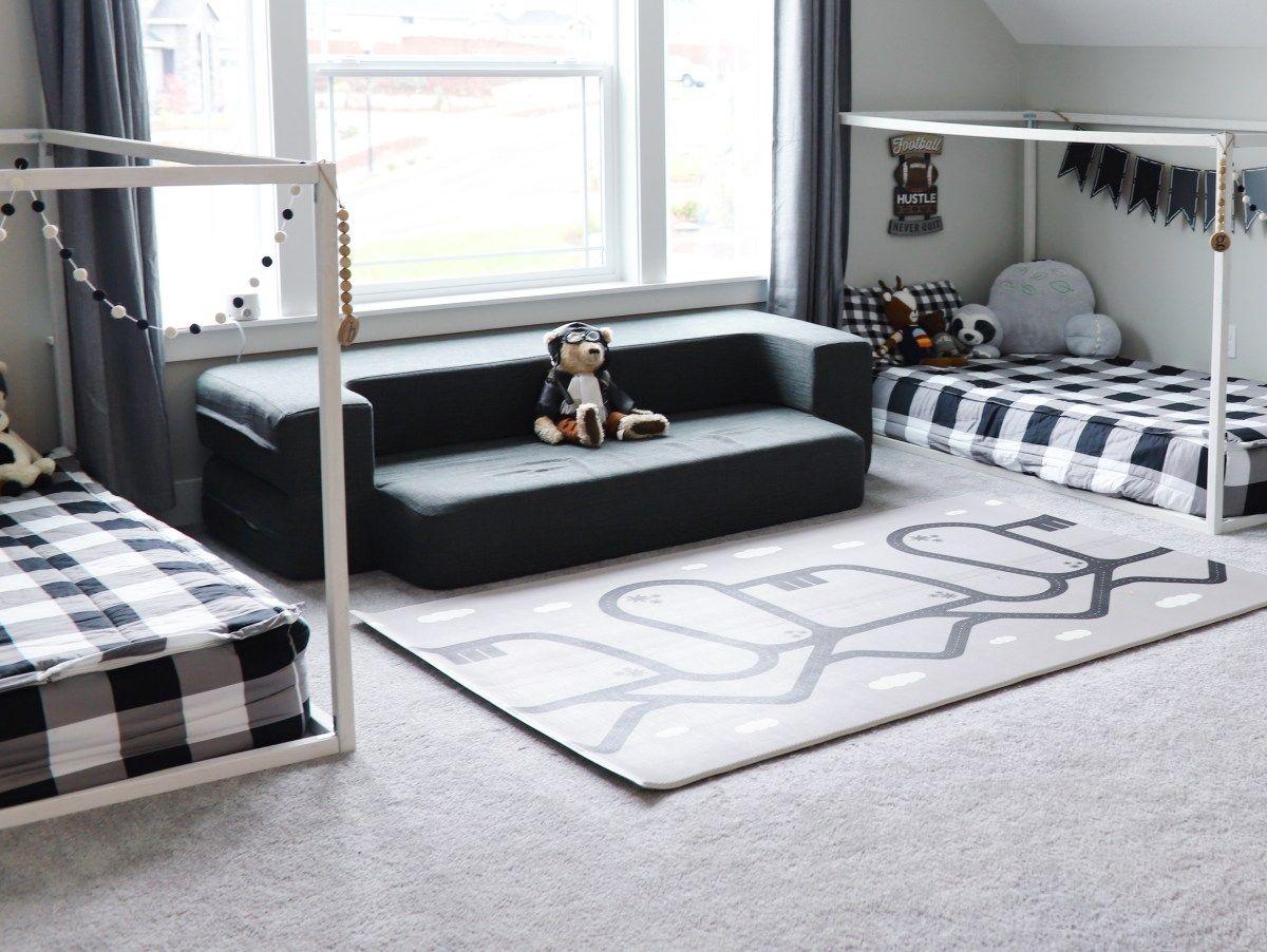 Modern Kids Shared Bedroom with Floor Beds images