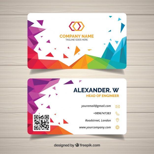 Abstract Business Card Free Vector Http Ift Tt 2ncnaae Kartu Nama Kartu Nama Bisnis Desain Brosur