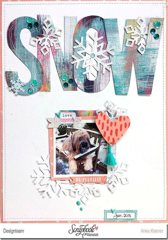 8.5 x 11 / scrapbook / titles / snowflakes | Scrapbook Layouts in ...
