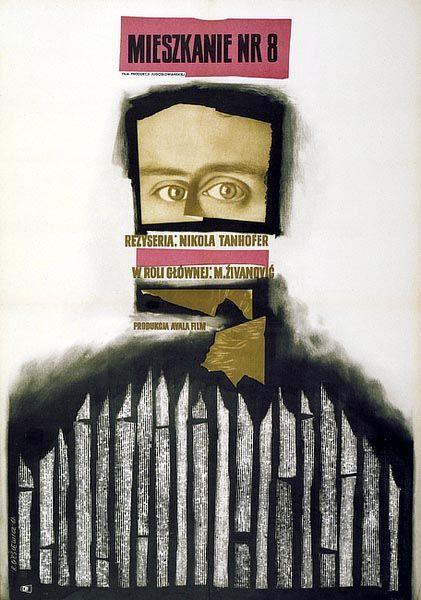 "Roman Cieslewicz Poster : ""MIESZKANIE NR 8"", 1961"