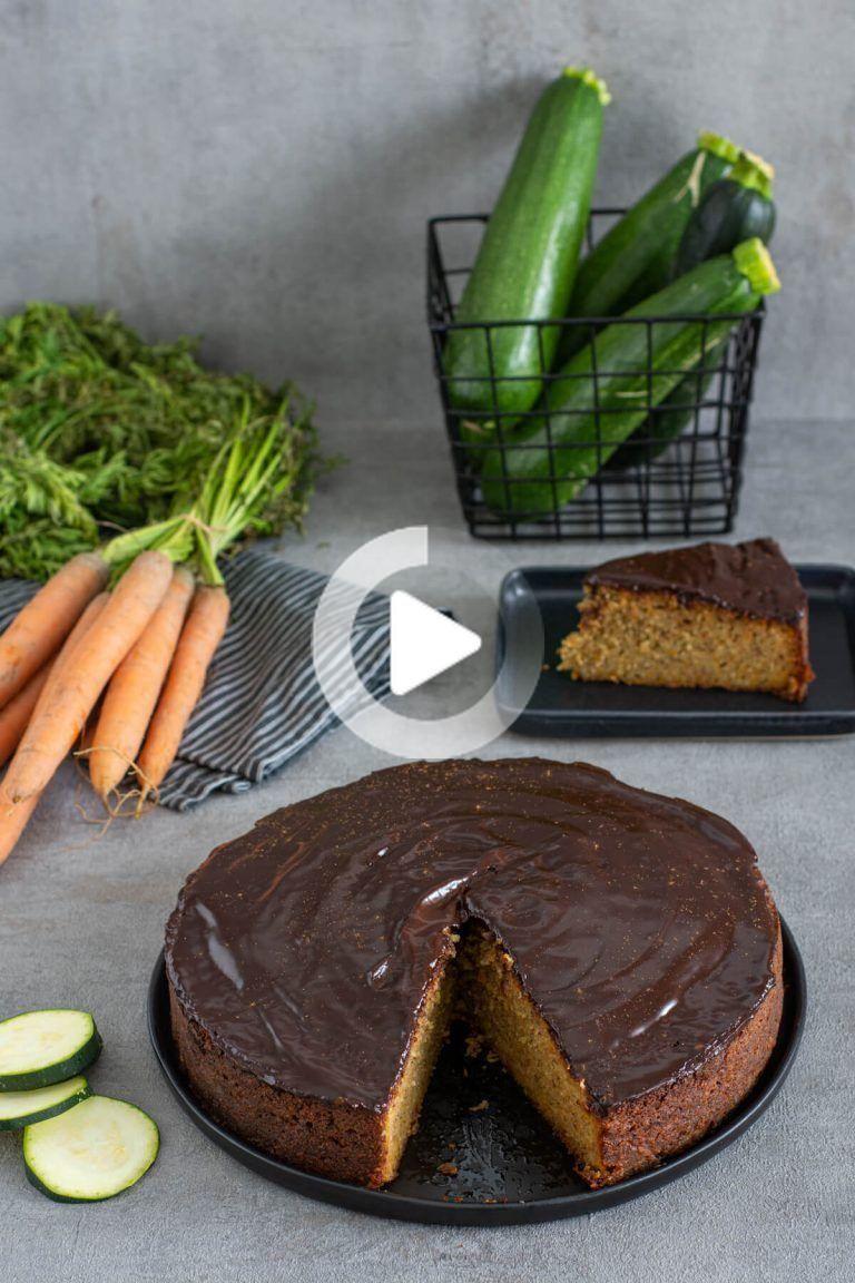 Saftiger Zucchini Karottenkuchen Ohne Zucker In 2020 Zucchini Karottenkuchen Karottenkuchen Ohne Zucker Karotten Kuchen