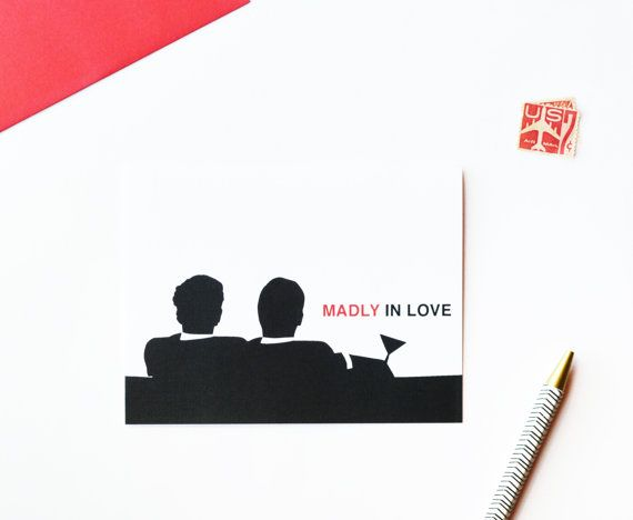 Gay anniversary card gay anniversary madly in love mad men