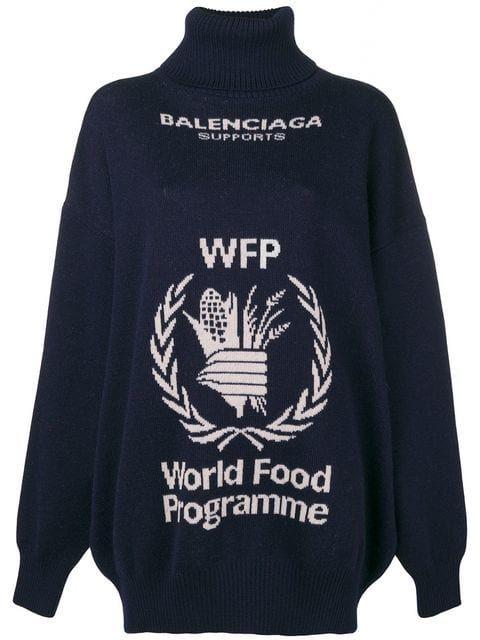 9721f23e8 Balenciaga World Food Programme Turtleneck Sweater - Farfetch | TOPS ...