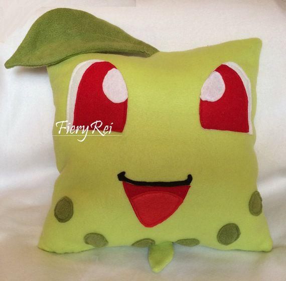 Chikorita Pokemon Plush Decorative Pillow