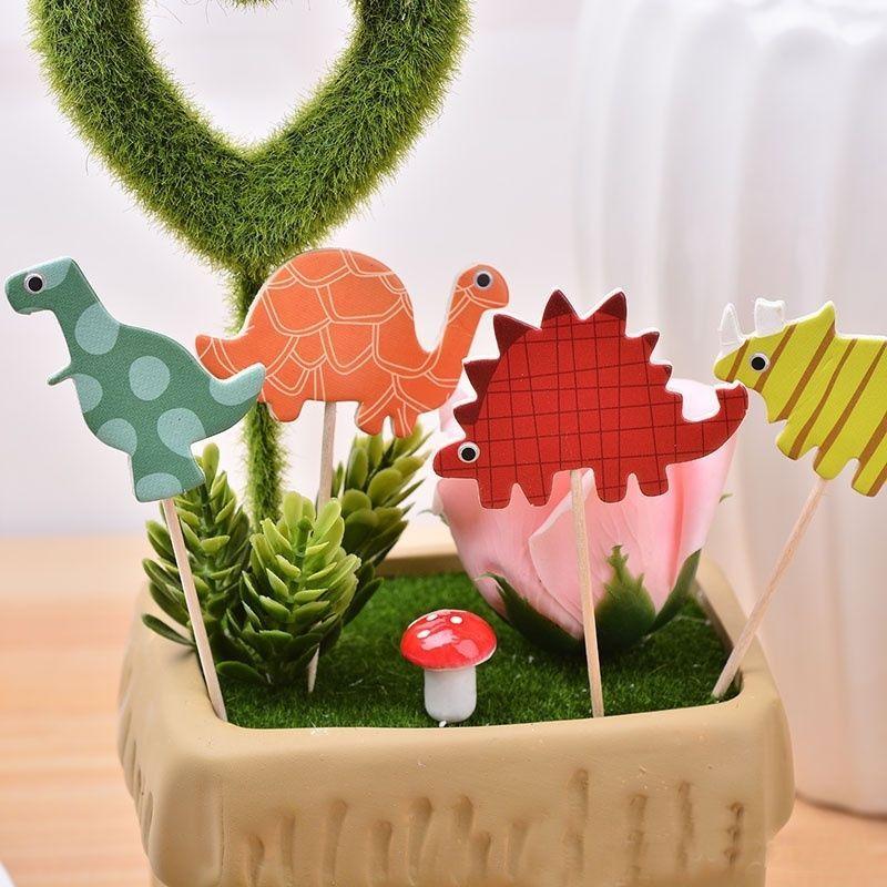 24pcs dinosaur cupcake topper picks kids birthday wedding