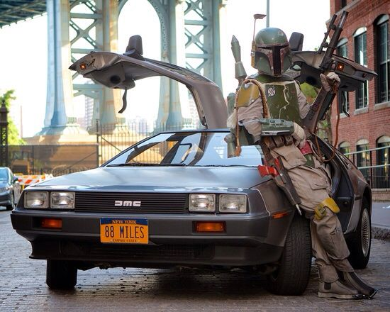 Image result for delorean boba fett
