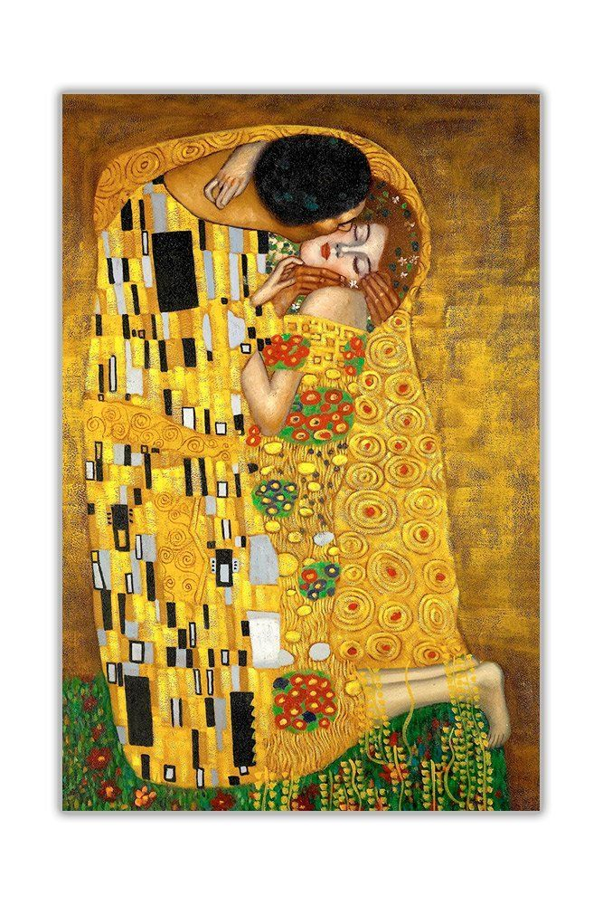 CLASSIC THE KISS BY GUSTAV KLIMT OIL PAINTING REPRINT LARGE CANVAS ...