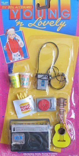 """Young 'n Lovely ACCESSORIES Pack For Barbie, Sindy & 11.5"""" Fashion Dolls w BURGER KING FRIES & More! (1980's Shillman) by Shillman. $68.99"""