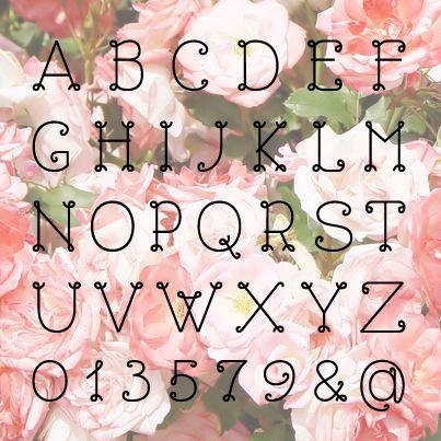 Free Font Collection 04 箱庭 Haconiwa 女子クリエーターのためのライフスタイル作りマガジン レタリングアルファベット フリーフォント フォント