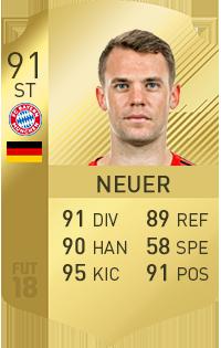 Manuel Neuer in FIFA 18