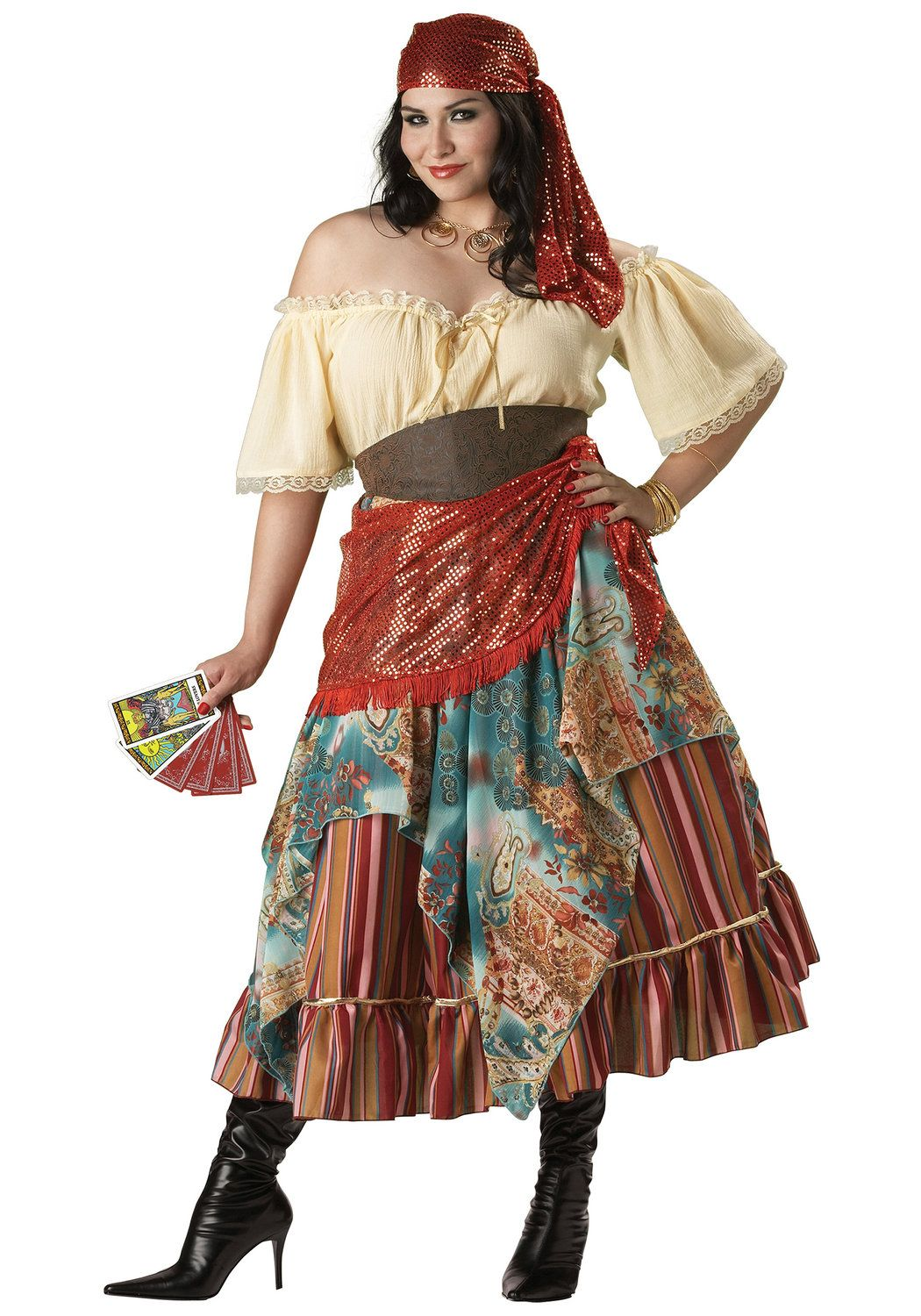 Teller Plus Size Gypsy Costume Renaissance Costumes - Mr. Costumes b7fc3a899ff4