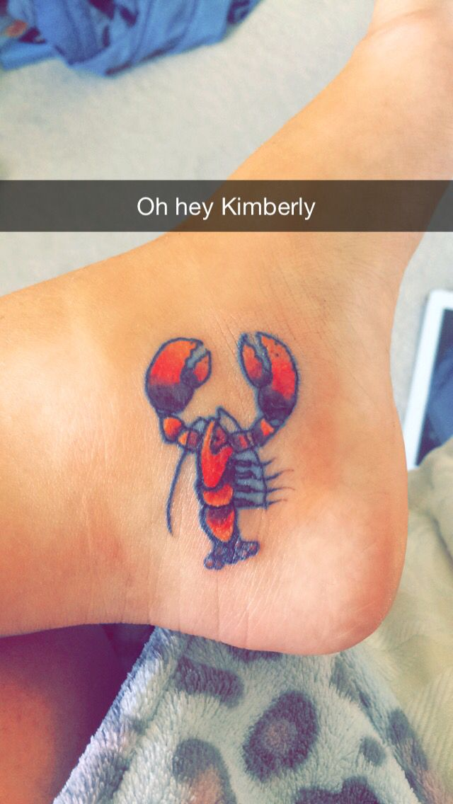 d33584bec My new lobster tattoo | Tattoo ideas | Lobster tattoo, Tattoos ...