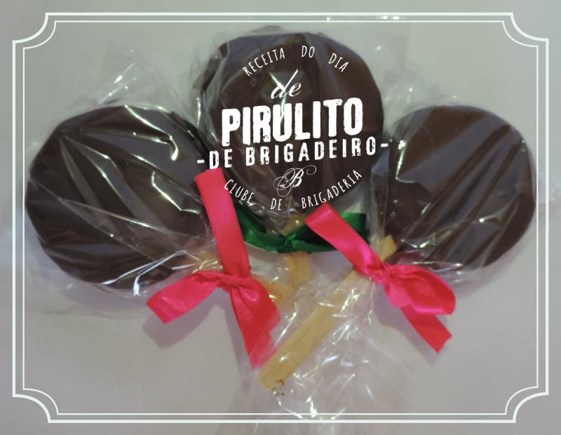 Pirulito de brigadeiro (receita): http://clubedebrigaderia.com.br/pirulito-de-brigadeiro/