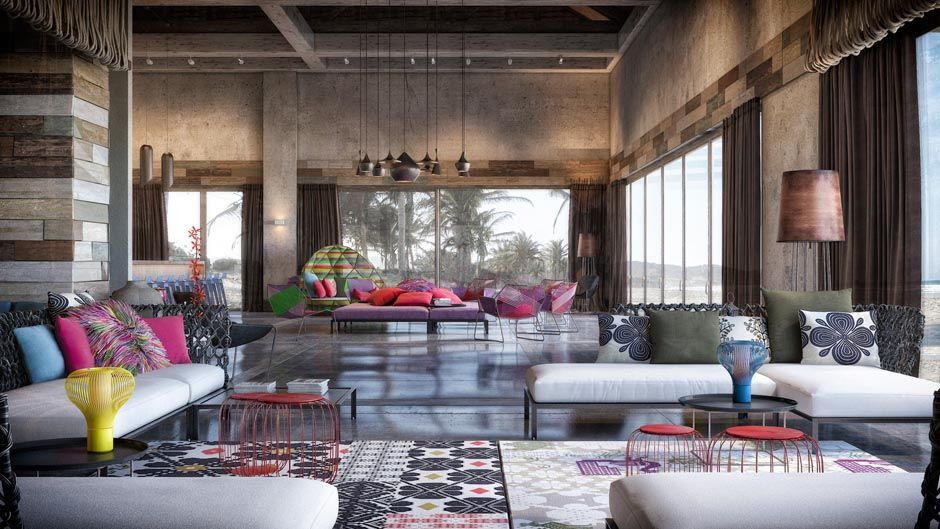 Colorful, Exuberant Interior Design: Inspiration From W Retreat U0026 Spa,  Vieques Island