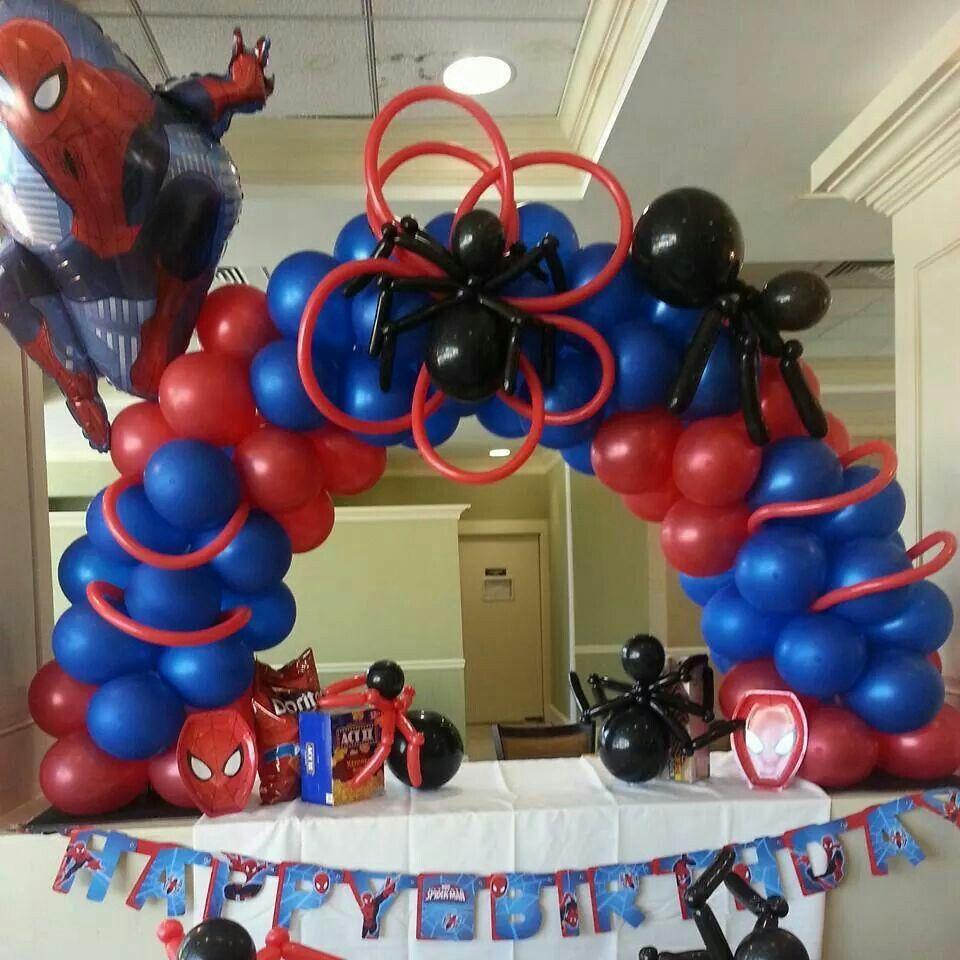 Spiderman Birthday Balloon Decorations Spiderman Decorations Balloon Decorations