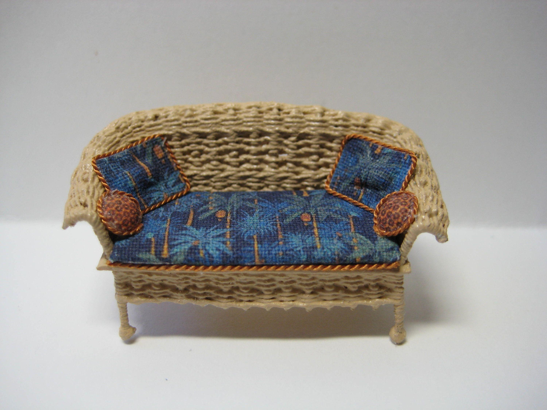 Quarter scale miniature wicker sofa in 2020 Wicker sofa