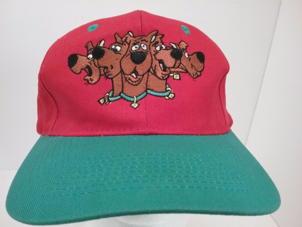 Scooby Doo Hanna Barbera Vintage Snapback Hat Red and Green Cap ... fbfbf59e10a5