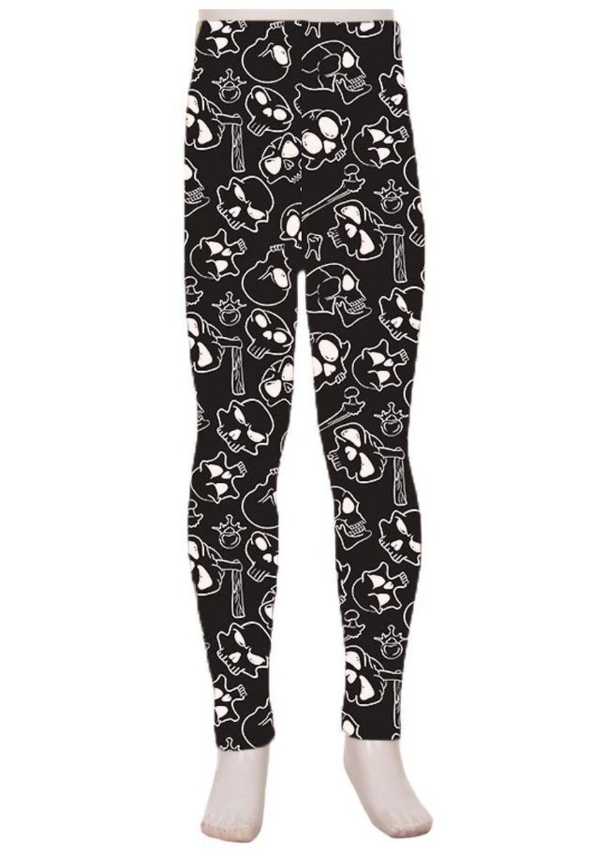 9ae356406a05f MomMe And More Boutique sells Skull Bone Leggings for Girls. Cute Kids  Clothes for Toddlers, Youth & Teens. Shop Online Dresses, Leggings, Tops,  Shirts, ...