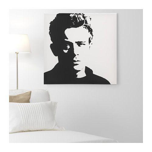 James Dean Canvas Art - IKEA = $39.99 ( LOVE )