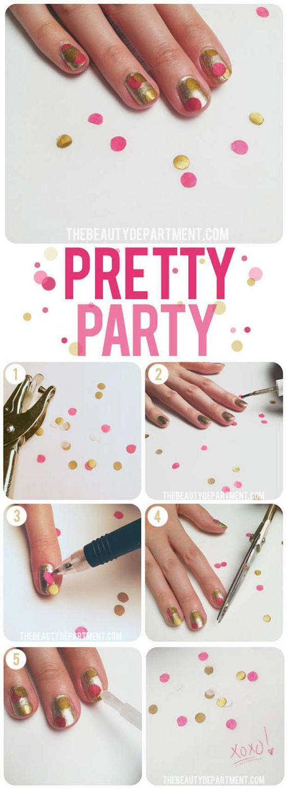 Cool Manicure Hacks - Do Your Nails At Home - Confetti Nails ...