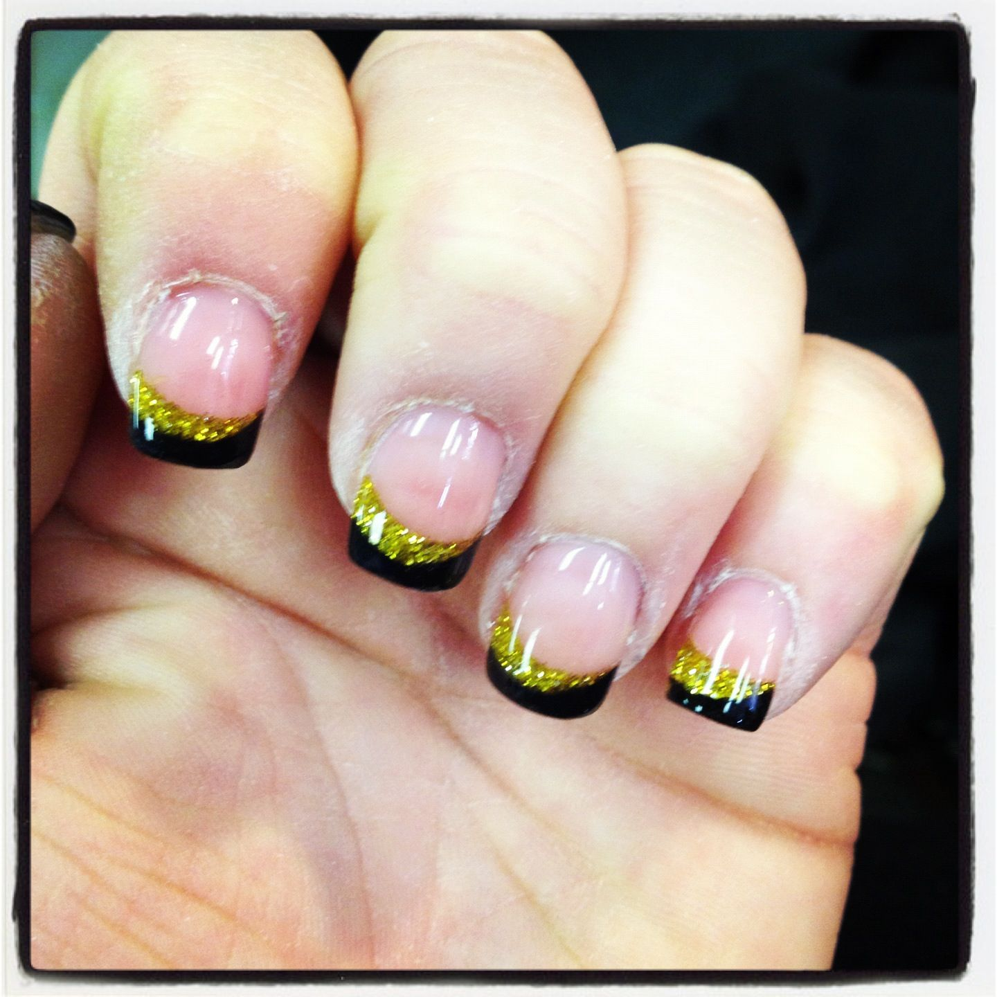 Here we go steelers nails   ~!NAILS!~   Pinterest   Football nails ...