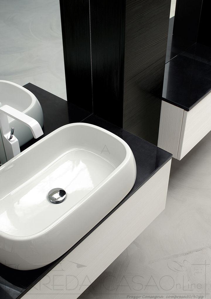 Arredo Bagno lavabo appoggio top marmo Kar18 | Prezzo ...