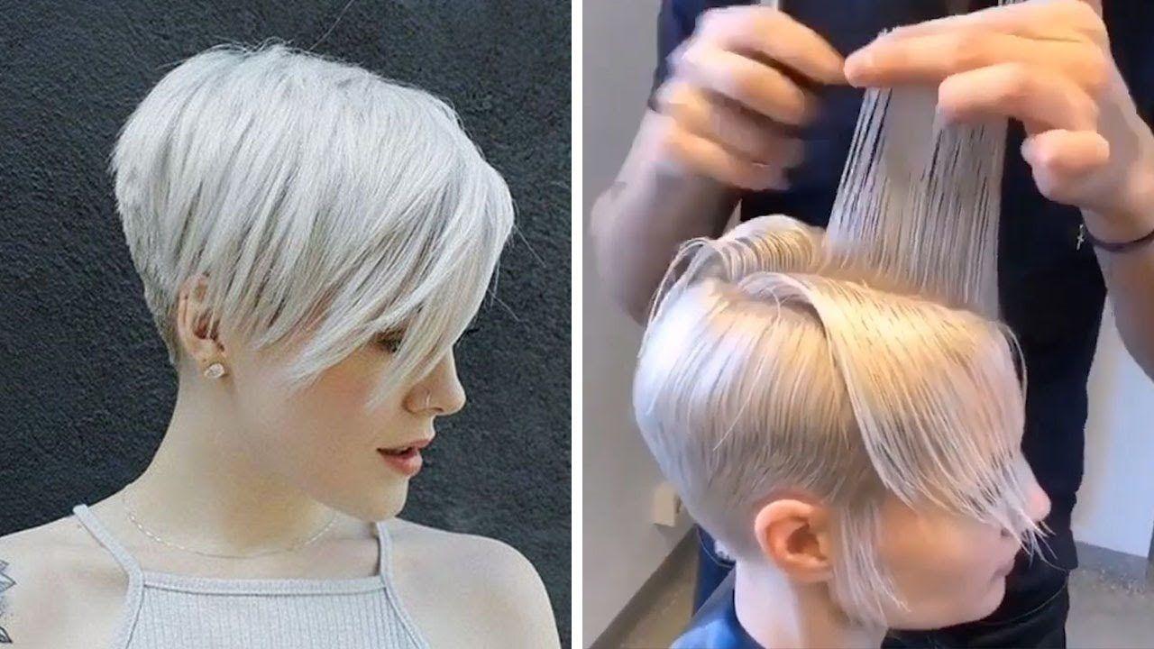 New Pixie Haircut Tutorial Compialtion 2020 Bob Short Layered Haircu In 2020 Pixie Haircut Longer Pixie Haircut Short Layered Haircuts