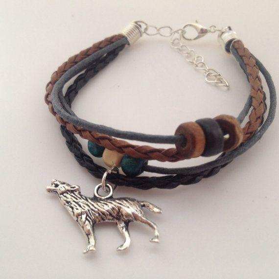 Wolf bracelet  Bohemian Native American by BohemianFantasy on Etsy